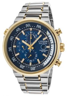Image for Men's Endeavor Chrono Two-Tone SS Blue Dial Gold-Tone Bezel SS from World of Watches