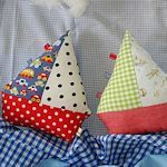50 things to do with leftover fabric....sail boat pillow/toy