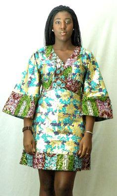 Gold Kimono Dress ~Latest African Fashion, African Prints, African fashion styles, African clothing, Nigerian style, Ghanaian fashion, African women dresses, African Bags, African shoes, Nigerian fashion, Ankara, Kitenge, Aso okè, Kenté, brocade. ~DKK