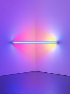 A light installation as pictured in the book Dan Flavin: Corners, Barriers and Corridors, out in December from David Zwirner Books. Dan Flavin, New Retro Wave, Retro Waves, Neon Aesthetic, Architecture Tattoo, Light And Space, Light Installation, Art Installations, Land Art