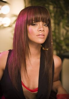 2014 Straight Long Hairstyles with Bangs