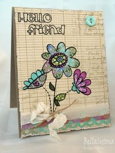 Fab and funky card by Lisa using Paper Smooches