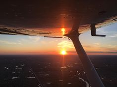 Cruising at 3000ft in a Cessna 172. Not a bad way to spend an evening.