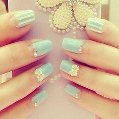 nail art design fall mint cute tutorial diy winter