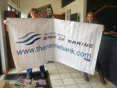 A banner we created for our friends at Bank of Marine