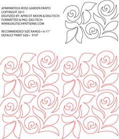 Rose Garden Pantograph by Apricot Moon APMPANTO26PR