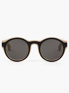 Mykita X Maison Martin Margiela Black Acetate Dual Sunglasses