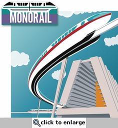 Disney Monorail 2 Piece Laser Die Cut Kit