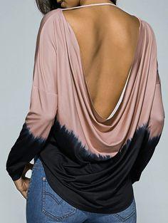 $14.26 Drop Shoulder Open Back T-Shirt