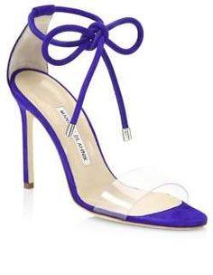 cd0d70cd5 Manolo Blahnik Estro Ankle Tie Stilettos
