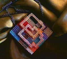 НеСКУЧНый квадратик | biser.info - всё о бисере и бисерном творчестве