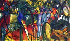 Zoological Garden I, 1912-August Macke - by style - Orphism