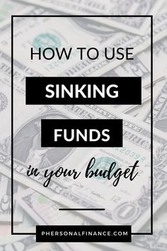 Learn how to save your budget by using sinking funds to prepare for large expected and unexpected expenses. Making A Budget, Create A Budget, Budgeting Tools, Budgeting Finances, Investing Money, Saving Money, Sinking Funds, Budget Template, Managing Your Money