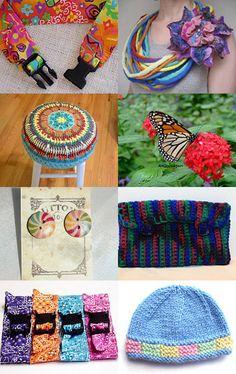 --Pinned with TreasuryPin.com Friendship Bracelets, Retro Vintage, Upcycle, My Etsy Shop, Handmade Jewelry, Rainbow, Accessories, Rain Bow, Rainbows