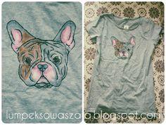 DIY bulldog t-shirt. Hand-painted