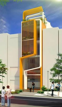 Townhouse Exterior, Ultra Modern Homes, Narrow House, House Elevation, Small House Design, Affordable Housing, Facade Architecture, Small Apartments, House Floor Plans