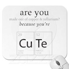 Are You Cute Nerdy Science Geek Humor Mousepad