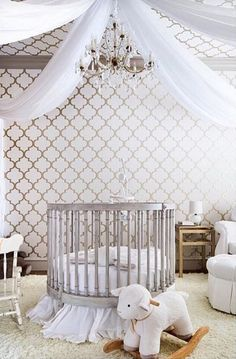 Stunning nursery room for a boy or girl. Wright Interiors