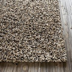 Super Area Rugs 7ft 9in x 10ft 6in (8x11) Shag/Shaggy Rug Beige Solid Polyester Carpet