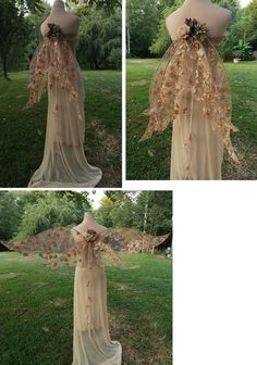 Kimmy Style Stunning Fairy Wedding Wings Sold Order Your Fairy Clothes, Fairy Dress, Fantasy Dress, Halloween Disfraces, Bridesmaid Flowers, Fabric Decor, Body Painting, Wedding Colors, Gowns