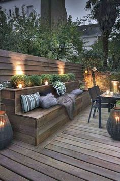 Outdoor lighting ideas for backyard, patios, garage. Diy outdoor lighting for front of house, backyard garden lighting for a party Outdoor Rooms, Outdoor Gardens, Outdoor Living, Outdoor Decor, Outdoor Ideas, Party Outdoor, Outdoor Retreat, Outdoor Entertaining, Outdoor Candles