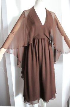 VTG-70s-Halston-Couture-Brown-Silk-Chiffon-Dress-c-1975