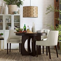 The eat-in area of our kitchen is a little smaller, so this rounded table would maximize the space. $449