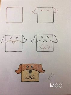 Kids friendly drawings with squares as a base All the lovely kids there .Kids friendly drawings with squares as a bas Drawing Lessons For Kids, Art Drawings For Kids, Doodle Drawings, Cartoon Drawings, Doodle Art, Animal Drawings, Simple Drawings, Drawing Ideas, Alphabet Drawing
