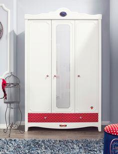 Детский трехдверный шкаф Cilek Strawberry STR-1002 #детскийшкаф #детскаямебель #cilek #cilekstore #интернетмагазин