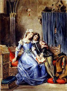 Paolo et Francesca by Eugène Delacroix