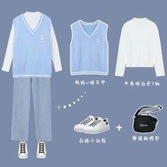 Korean Girl Fashion, Ulzzang Fashion, Korean Street Fashion, Kpop Fashion Outfits, Korea Fashion, Cute Fashion, Korean Casual Outfits, Korean Outfit Street Styles, Cute Casual Outfits