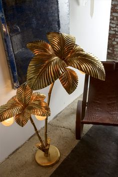 Exclusive Designer Italian Palm Tree Floor Lamp at Juliettes Interiors. Palm Tree Decorations, Tree Floor Lamp, Floor Lamps, Family Tree Wall, Tree Sculpture, Diy Christmas Tree, Trendy Tree, Tree Crafts, Leaf Shapes