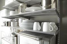 Elevate Your Kitchen Style With Elfa Utility! Platinum Elfa Utility Kitchen  Shelving Is Perfect For