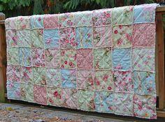 Shabby Chic Rag Quilt by SeasonOfTheStitch on Etsy, $450.00