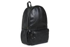 """The Leather Clifton backpack is handcrafted from full-grain Italian leather and is designed to hold a 13"""" laptop as well as books, papers, gym clothes, and more."""