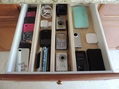 Good bye junk drawer, need this badly for cords! via Drawer Essentials