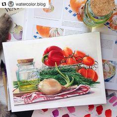 #Repost @watercolor.blog with @repostapp   Watercolorist: @marymishk  #waterblog #color #акварель #art #paint #aquarelle #watercolor #drawing #painting