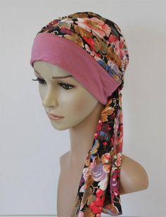 Head scarf elegant tichel full head covering turban snood