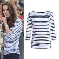 8bd87a5657da8 ME+EM Cobalt White Breton Stripe Top - Kate Middleton Tops