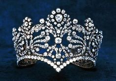 The Diadem of Empress Josephine - made for the coronation of Empress Josephine in 1804 - 1040 diamonds - In 188 when the French Republic decided to hold a major sale of its treasures, this tiara was purchased by the New York firm of Van Cleef & Arpels, in whose possession it remains today.