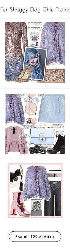 """""""Fur Shaggy Dog Chic Trend"""" by yours-styling-best-friend ❤ liked on Polyvore featuring Supersweet, Matthew Williamson, Jessica McClintock, Lipstick Queen, Jimmy Choo, Sugarpill, For Love & Lemons, Dolce&Gabbana, Sunday Somewhere and mizuki"""