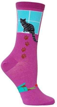 Cats in Art, Illustration, Fashion and Textiles: Cat Socks. Lots Of Socks, Funky Socks, Crazy Socks, Cute Socks, Leggings, Tights, Unique Socks, Foot Socks, Socks And Sandals