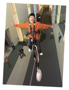 COSI - try the unicycle OR watch rats play basketball... in the end its a fun day of exploring for all ages!