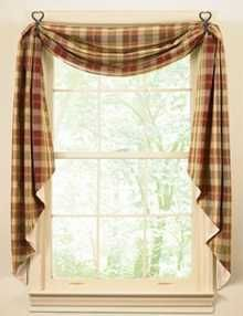 Primitive Window Treatment Ideas | Country Window Treatments: European-Style Rustic Window Treatments