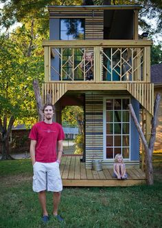 Shaker Style Treehouse. I applaud this guy. Seriously.