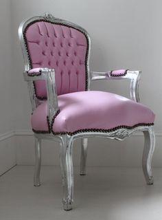 Light Pink Bedroom Chair