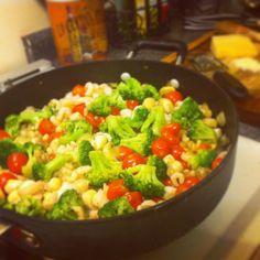 Lemon Parmesan Seafood Medley Pasta | Cookin Fanatic