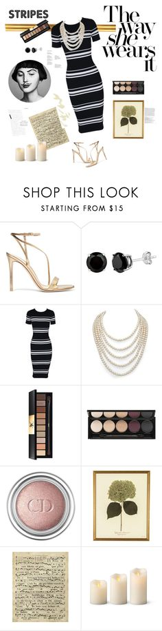 """""""STRIPES"""" by kallimanis ❤ liked on Polyvore featuring Gianvito Rossi, Tema, MINKPINK, DaVonna, Yves Saint Laurent, Witchery, Christian Dior, Art Classics, Improvements and Balmain"""