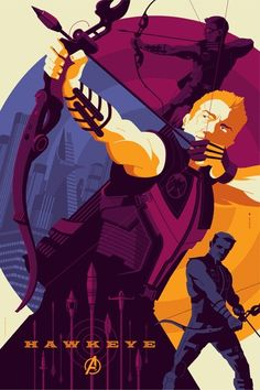 Hawkeye - Avengers Character Posters ©Tom Whalen - 2012
