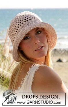 -- FREE HOW TO pattern to crochet --- a summer hat